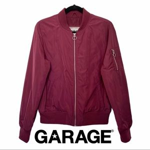 "Garage Burgundy ""Must Have"" Puffy Bomber Jacket"